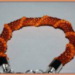 """Wężowa bransoletka """"pomarańczowy zawrót głowy"""":)"""
