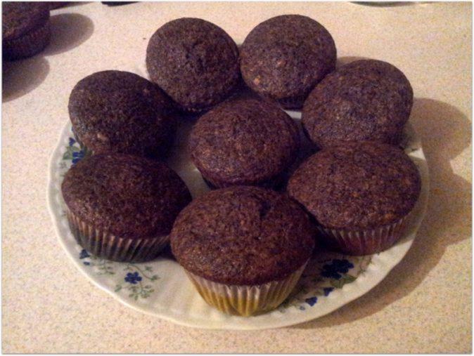 babeczki muffinki bananowo- czekoladowe dla łakomczuszków, między robótkami :)