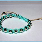 Bransoletka i kolczyki – Niebieska Makrama