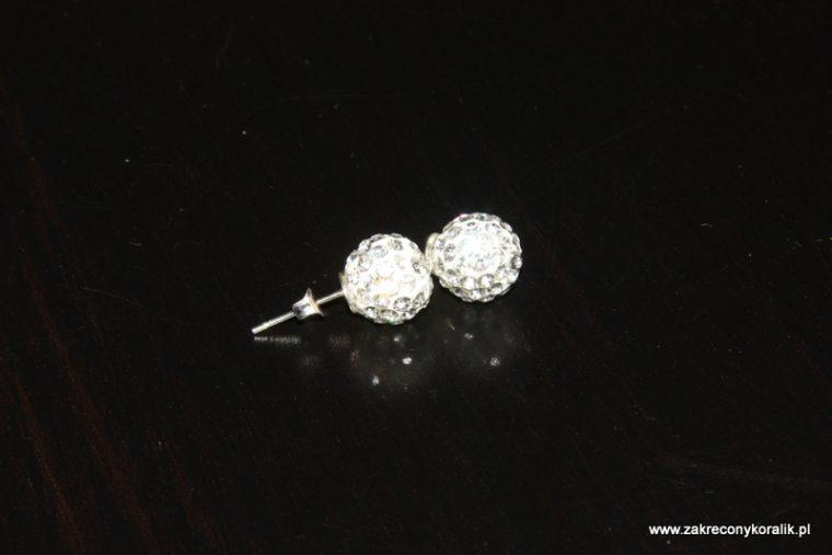 Kolczyki z kulek cyrkoniowych srebnych