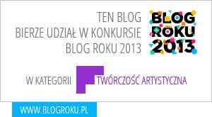 Zakręcony koralik w konkursie - blog roku 2013