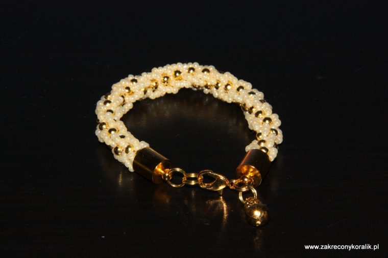 Beżowo - złoty sznur turecki