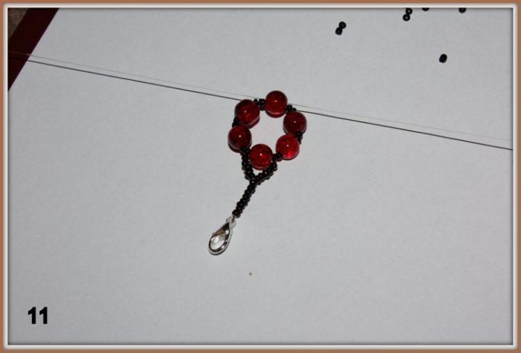 """Jak zrobić bransoletkę """"Jarzębinka"""" krok po kroku"""