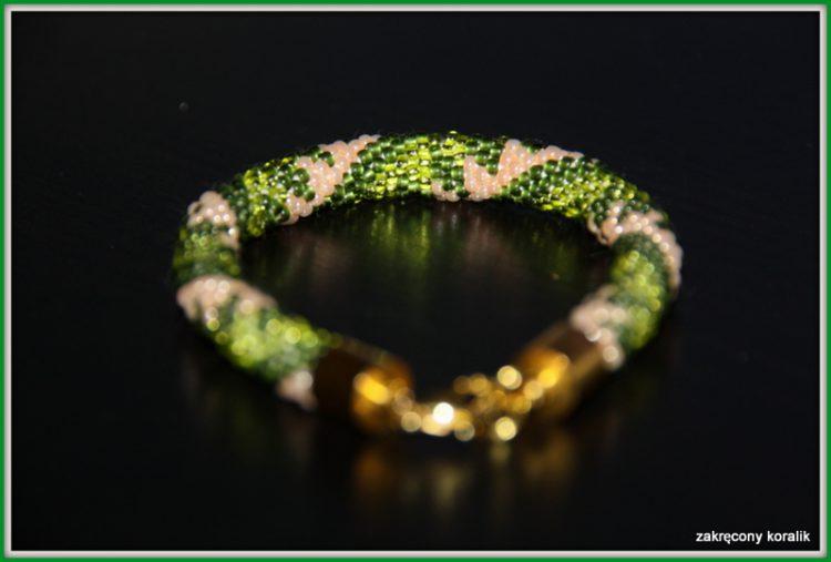 Wężowa bransoletka trójkolorowa