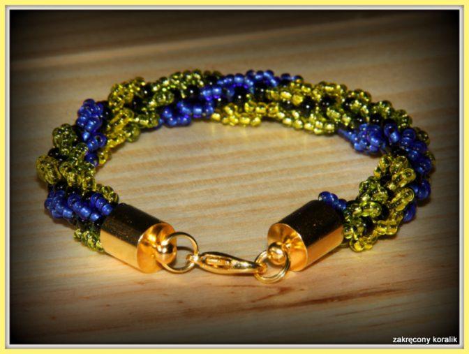 Trójkolorowa bransoletka - sznur turecki